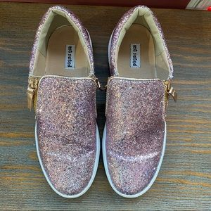Not Rated pink glitter shoes